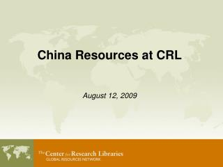 China Resources at CRL