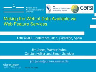 Making the Web of Data Available via Web Feature Services