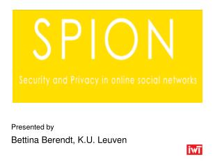 Presented by  Bettina Berendt, K.U. Leuven