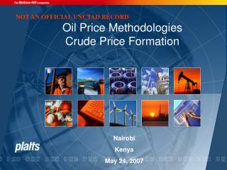 Oil Price Methodologies Crude Price Formation