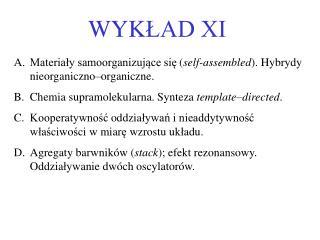 WYK ŁAD XI
