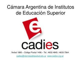 Cámara Argentina de Institutos de Educación Superior