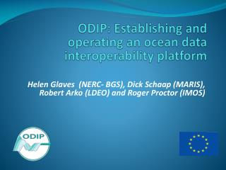 ODIP: Establishing and operating an ocean data interoperability platform