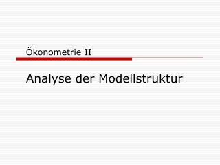 Ökonometrie II