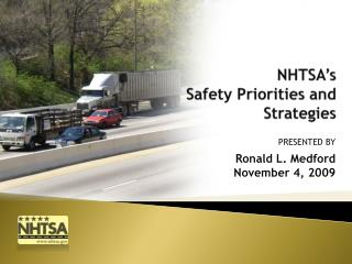NHTSA�s  Safety Priorities and Strategies
