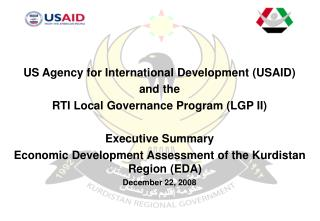 US Agency for International Development (USAID)  and the  RTI Local Governance Program (LGP II)