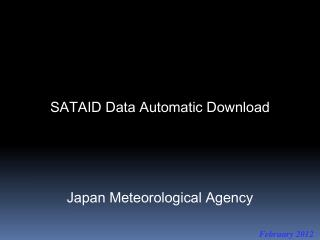 SATAID Data Automatic Download