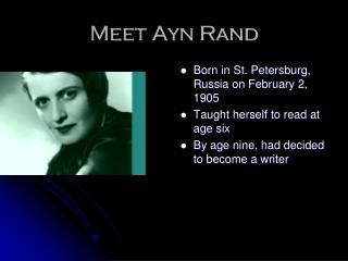 Meet Ayn Rand