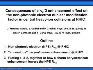 Consequences of a   c /D enhancement effect on  the non-photonic electron nuclear modification
