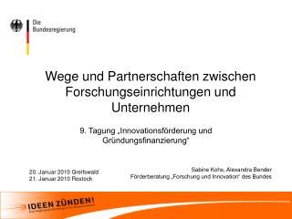 Wege und Partnerschaften zwischen Forschungseinrichtungen und Unternehmen