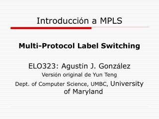 Introducci ó n a MPLS