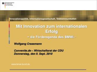 Innovationspolitik, Informationsgesellschaft, Telekommunikation