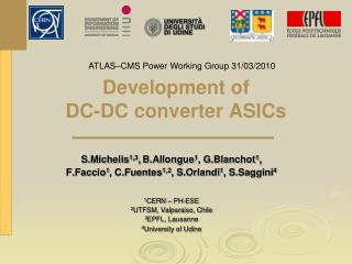 Development of  DC-DC converter ASICs
