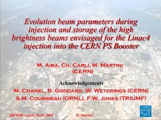 M. Aiba, Ch. Carli, M. Martini (CERN)