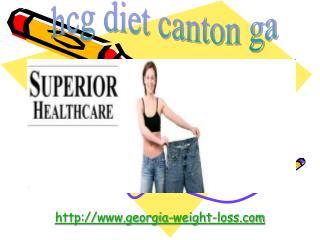 hcg diet canton ga