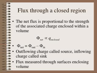 Flux through a closed region