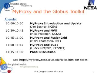 MyProxy and the Globus Toolkit