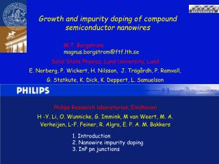 Growth and impurity doping of compound semiconductor nanowires