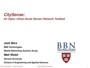 CitySense: An Open, Urban-Scale Sensor Network Testbed