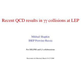 Recent QCD results in   collisions at LEP