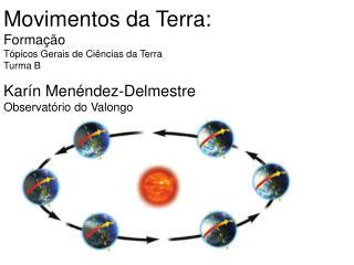 Movimentos da Terra:  Formação Tópicos Gerais de Ciências da Terra Turma B