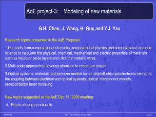 AoE project-3:    Modeling of new materials