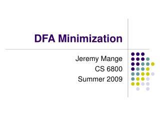 DFA Minimization