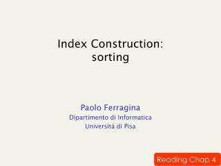 Index Construction: sorting