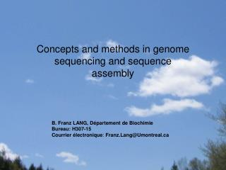 Concepts and methods in genome sequencing and sequence assembly
