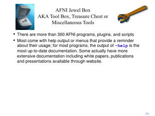 AFNI Jewel Box AKA Tool Box, Treasure Chest or Miscellaneous Tools