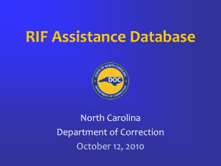 RIF Assistance Database