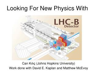 Looking For New Physics With