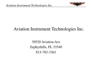 Aviation Instrument Technologies Inc.