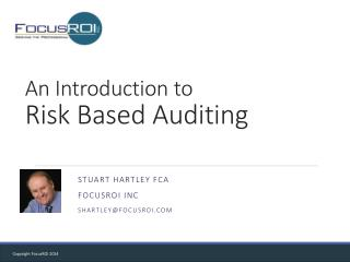 An Introduction to  Risk Based Auditing