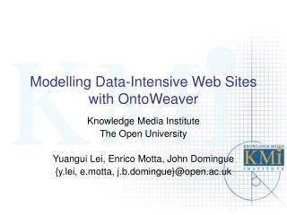 Modelling Data-Intensive Web Sites with OntoWeaver