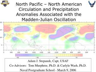 Adam J. Stepanek, Capt, USAF  Co-Advisors:  Tom Murphree, Ph.D. & Carlyle Wash, Ph.D.