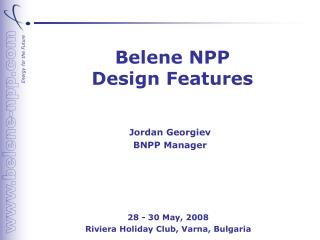 Belene NPP  Design Features