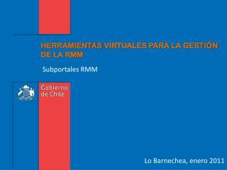 HERRAMIENTAS  VIRTUALES PARA  LA GESTIÓN  DE LA RMM