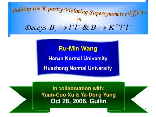 Probing the R-parity Violating Supersymmetry Effects in