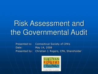 Risk Assessment and the Governmental Audit