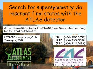 Search for supersymmetry via resonant final states with the ATLAS detector