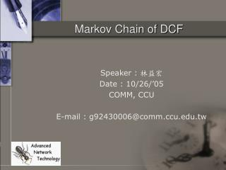 Markov Chain of DCF