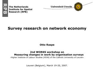 Survey research on network economy Otto Raspe
