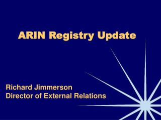 ARIN Registry Update