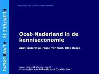 Oost-Nederland in de kenniseconomie