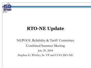 RTO-NE Update