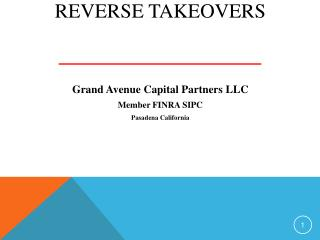 Reverse Takeovers