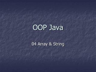 OOP Java