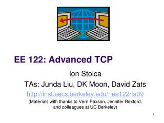 EE 122:  Advanced TCP