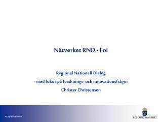 Nätverket RND - FoI